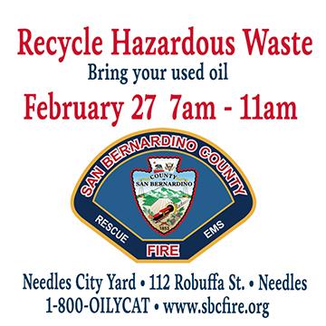 SBC Fire - Recycle Hazardous Waster